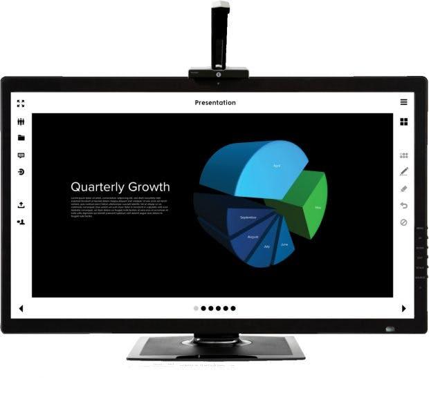 Touchjet Wave + Lily macht aus Fernsehern Touch-fähige Android-Geräte. Dank Stylus-Unterstützung eignet sich das Gadget auch als Grundlage für digitale Whiteboards. (Foto: Touchjet)