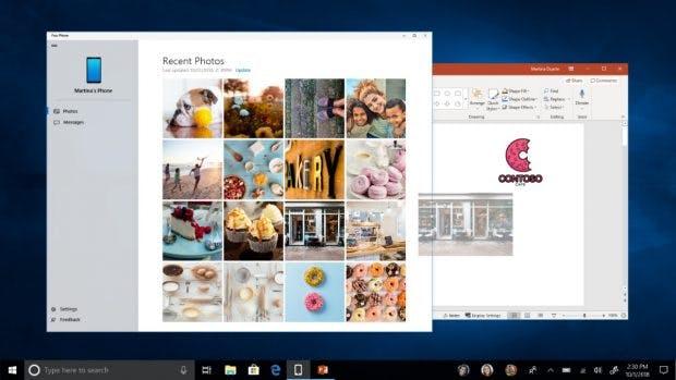 Mit Your Phone könnt ihr Inhalte eures Smartphones auf Windows 10 spiegeln. (Bild: Microsoft)