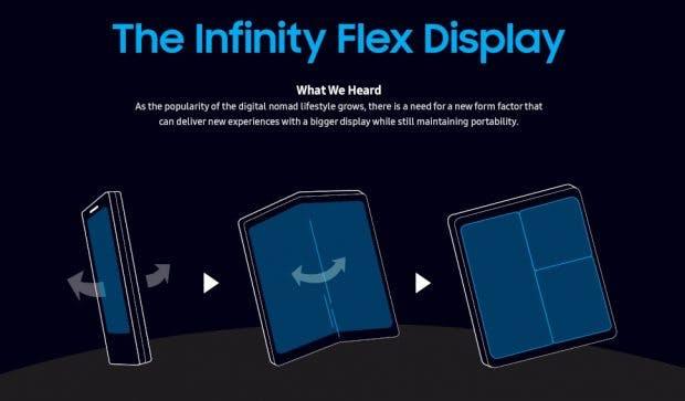 Samsung wird 2019 sein erstes Foldable vorstellen. (Screenshot: t3n.de; Samsung)