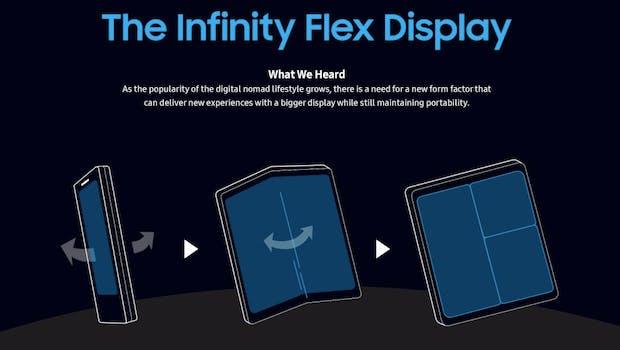 Samsung könnte im März 2019 sein erstes Foldable vorstellen. (Screenshot: t3n.de; Samsung)