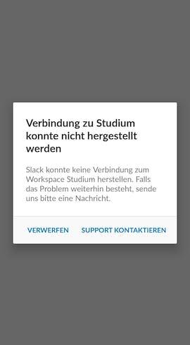 Slack speichert die letzten Chat-Inhalte des aktuellen Workspace zwischen. Wollt ihr euch mit einem neuen Workspace verbinden ist jedoch Schluss. (Screenshot: t3n.de)