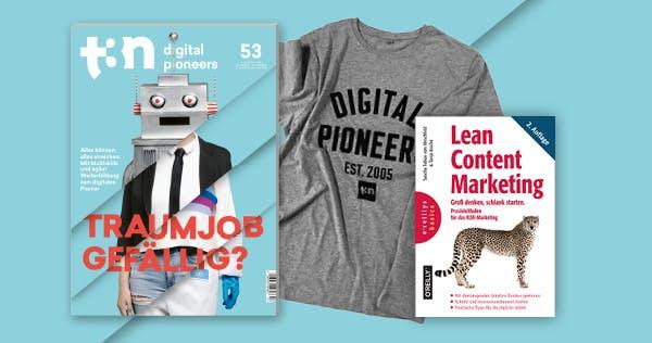 Groß denken, schlank starten – dein t3n Abo plus Content-Marketing-Fachbuch!