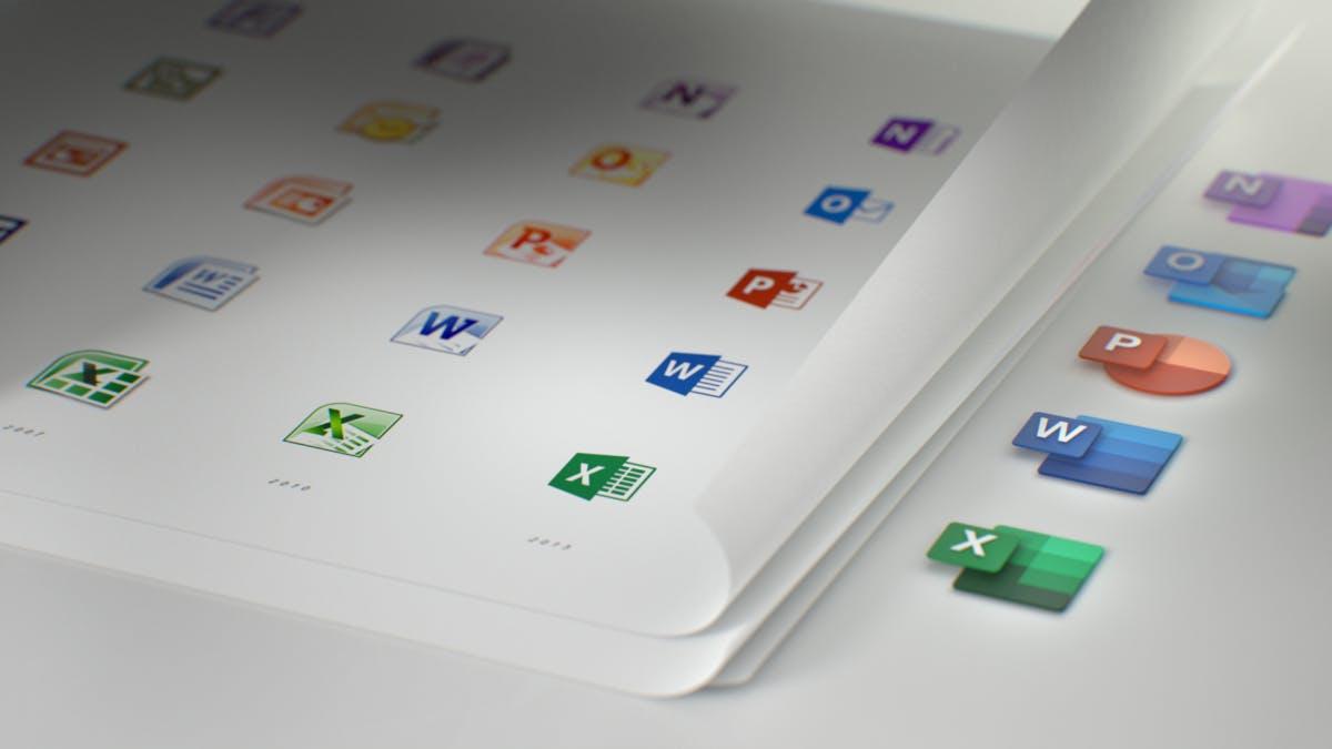 Alle Office-Icons haben ein neues Design. (Bild: Medium/ Microsoft)