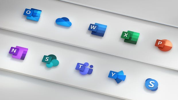 Icons der Office-Apps im neuen Design – was dahinter steckt