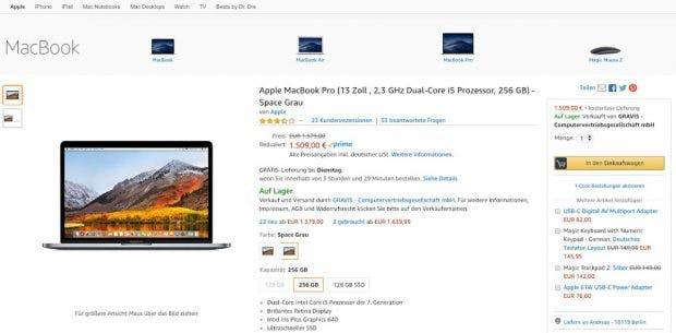 Apple bei Amazon. (Screenshot: t3n.de)
