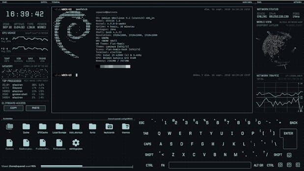 Edex-UI ist ein futuristisches Terminal-Interface für Science-Fiction-Fans