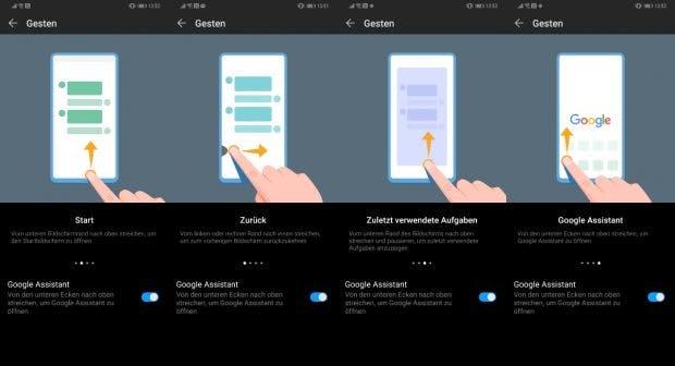 Die EMUI-9-Gestensteuerung gehrt nach einer kurzen Eingewöhnungsphase überwiegend gut von der Hand. (Screenshots: t3n.de)