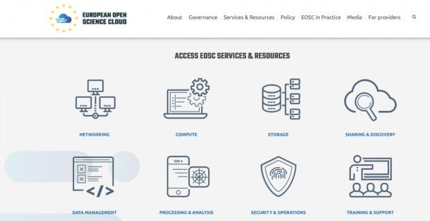 Die Europäische Cloud für offene Wissenschaft ist in einer ersten Version am Freitag online gegangen: (Screenshot: eosc-portal.eu / t3n.de)