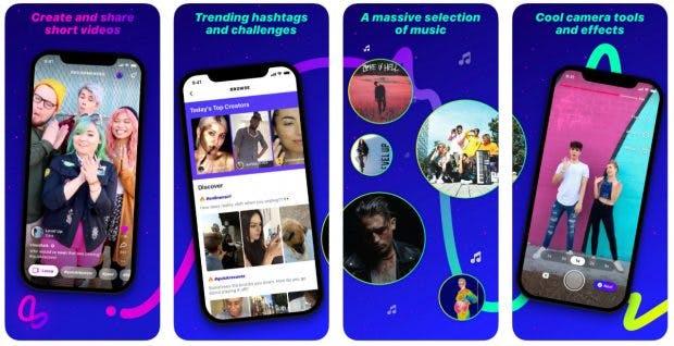 Facebooks Tiktok-Alternative Lasso ist vorerst nur in den USA verfügbar. (Screenshot: App-Store)