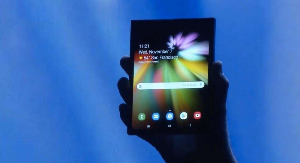 Das Samsung-Foldable im ausgeklappten Zustand. (Screenshot: t3n.de; Samsung)