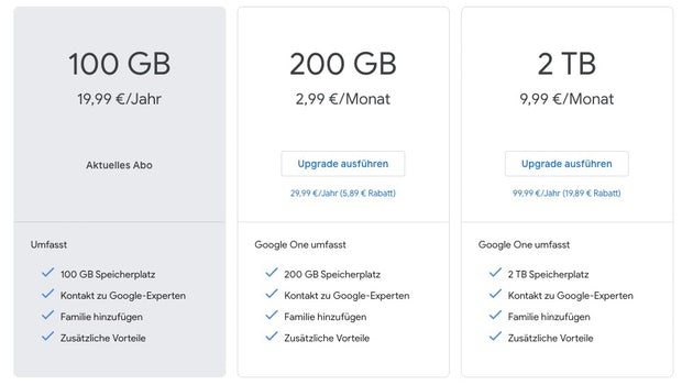 google drive preise