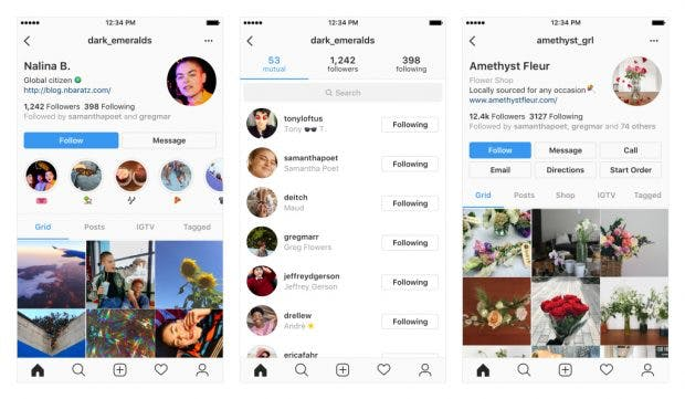 In den kommenden Wochen könnte euer Instagram-Profil wie eines dieser Beispiele aussehen. (Grafik: Instagram)