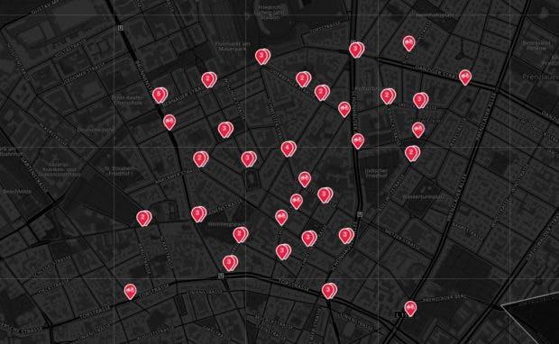 Jump Bikes in Berlin. (Screenshot: Jump Bikes; Open Streetmap)