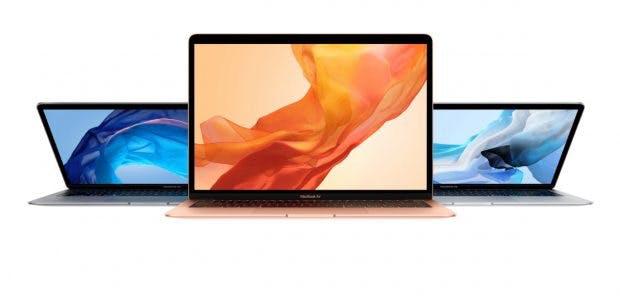 Das Macbook Air 2018 ist in den Farben Gold, Silber und Space Grey erhältlich. (Bild: Apple)