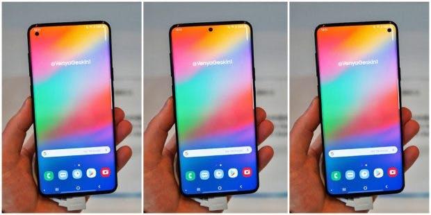Mit Samsungs neuem Infinity Flex Display könnten Galaxy S10 der Beyond X ein Loch anstelle einer Notch besitzen. (Konzept: Benjamin Geskin)