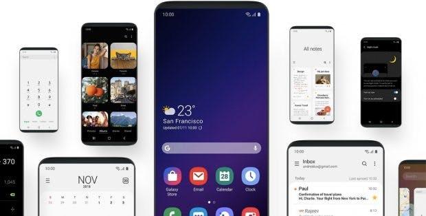 Mit Android Pie kommt Samsungs neue Nutzeroberfläche One UI . (Screenshot: t3n.de: Samsung)