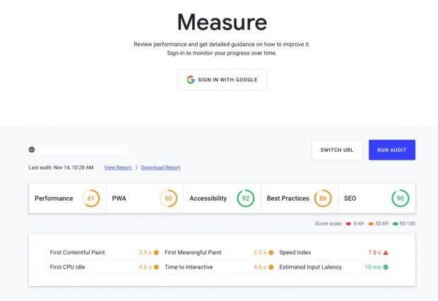 Test-Tool auf der neuen Google-Plattform Web.dev