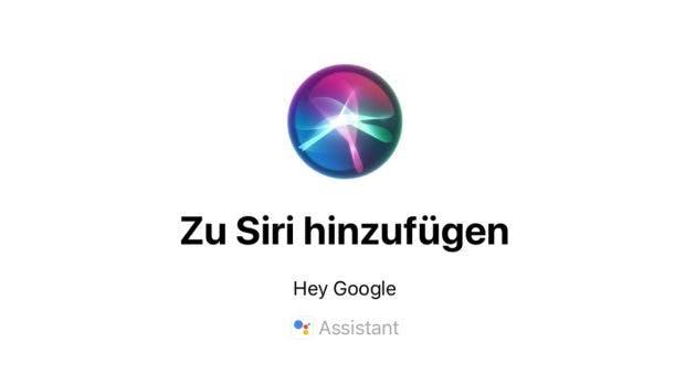 Hey Siri, okay Google-Kurzbefehl. (Screenshot: t3n.de)