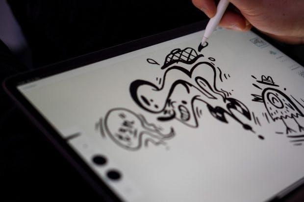 Illustrieren auf dem iPad Pro 12.9 der dritten Generation. (Foto: t3n)