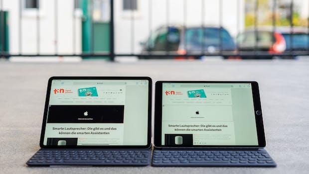 Rechts das 10,5 Zoll große iPad Pro von 2017, links das 11-Zoll-iPad-Pro von 2018. (Foto: t3n)