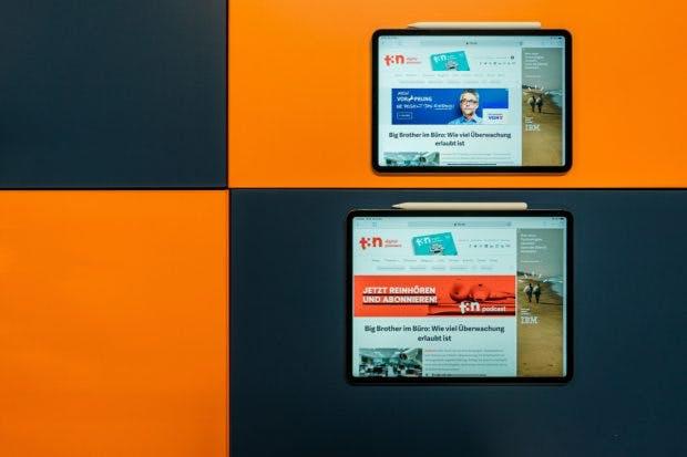Oben: Das iPad Pro mit 11 Zoll, unten: das iPad Pro mit 12,9 Zoll. (Foto: t3n)