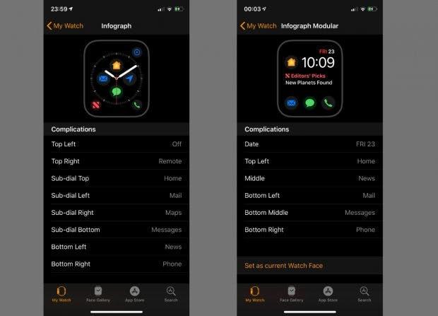 Die Apple Watch Series 4 erhält bald neue Komplikationen. (Screenshot: 9to5Mac)