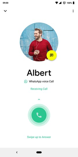Auch Telefongespräche glänzen in einem weißen Design. (Grafik: behance.net/Igor S.)