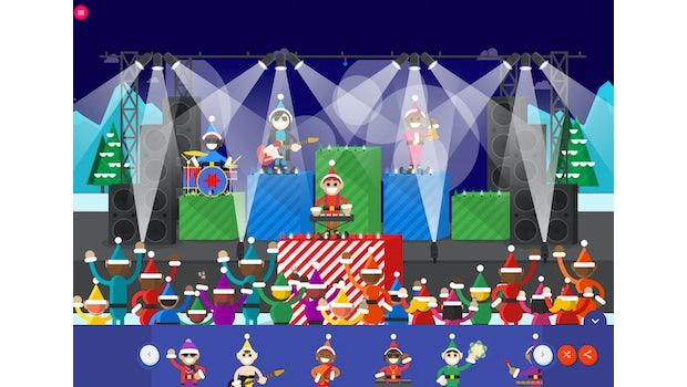 Interaktiver Adventskalender Santa-Tracker –Wichtel-Konzert. (Screenshot: Google)