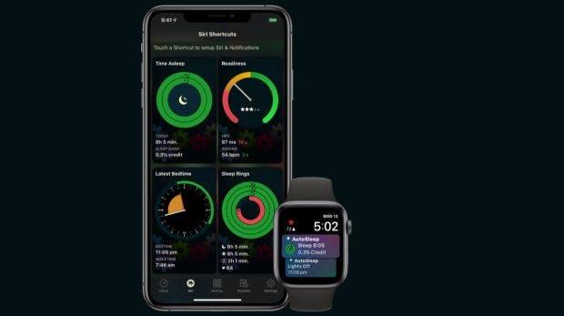 Autosleep 6 hat einen eigenen Reiter, der die Siri-Kurzbefehle-Möglichkeiten zeigt. (Bild: Tantissa)