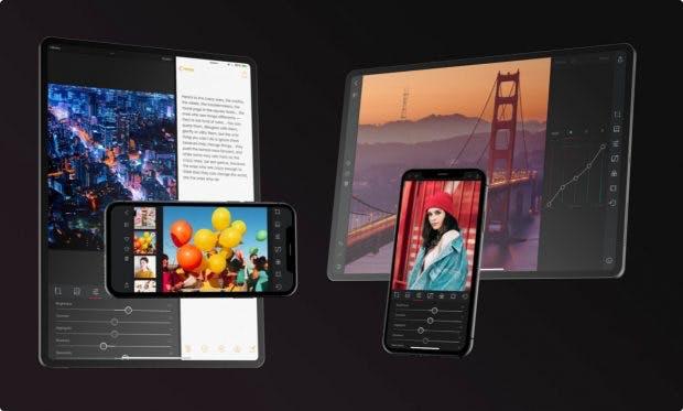 Die Darkroom-Macher haben das Layout der App auf die unterschiedlichen Multitasking-Ansichten angepasst. (Bild: Darkroom)