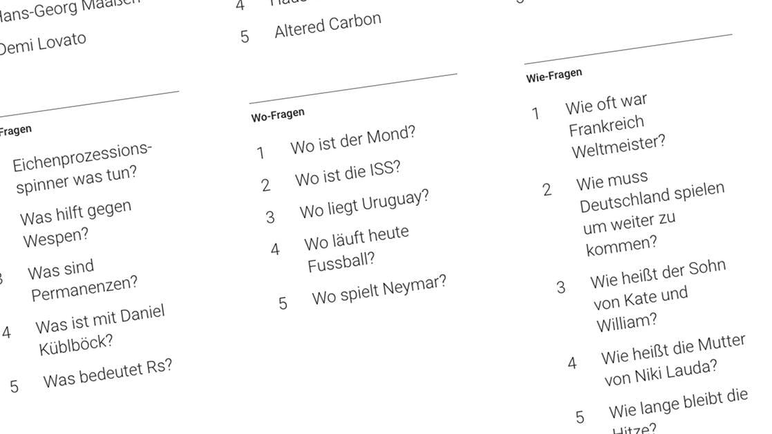 Google-Suchtrends 2018: Danach suchte Deutschland