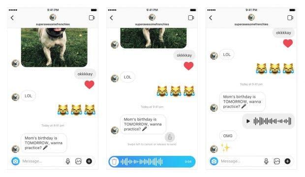 Wie bei Whatsapp: Instagram bekommt Sprachnachrichten. (Screenshots: Instagram)
