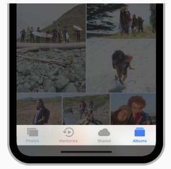 Bei iOS kommt hauptsächlich die Tab-Bar zum Einsatz. (Grafik: Apple)