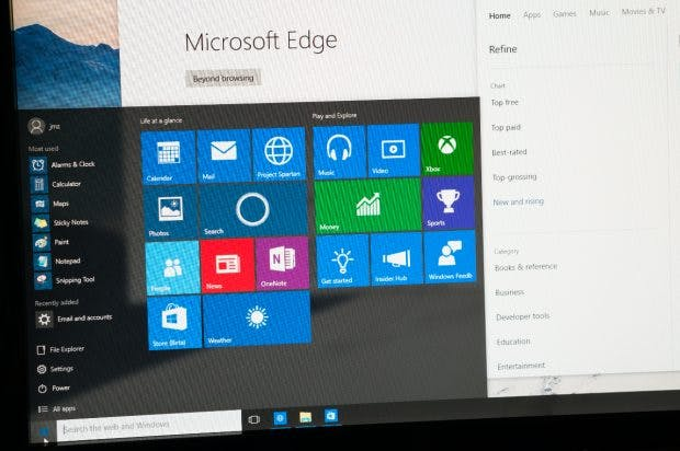 Microsoft Edge. (Foto: Shutterstock)