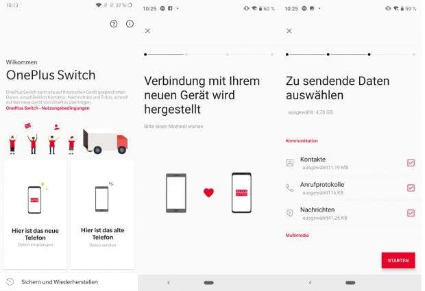 Oneplus Switch hilft bei der Datenmigration. (Screenshots: t3n.de)