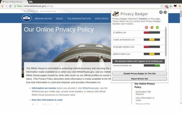 Chrome-Erweiterung Privacy Badger. (Bild: EFF)