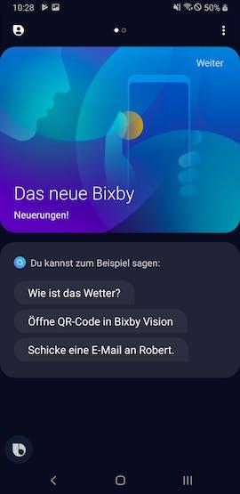 Bixby spricht jetzt Deutsch. (Screenshot: t3n.de)
