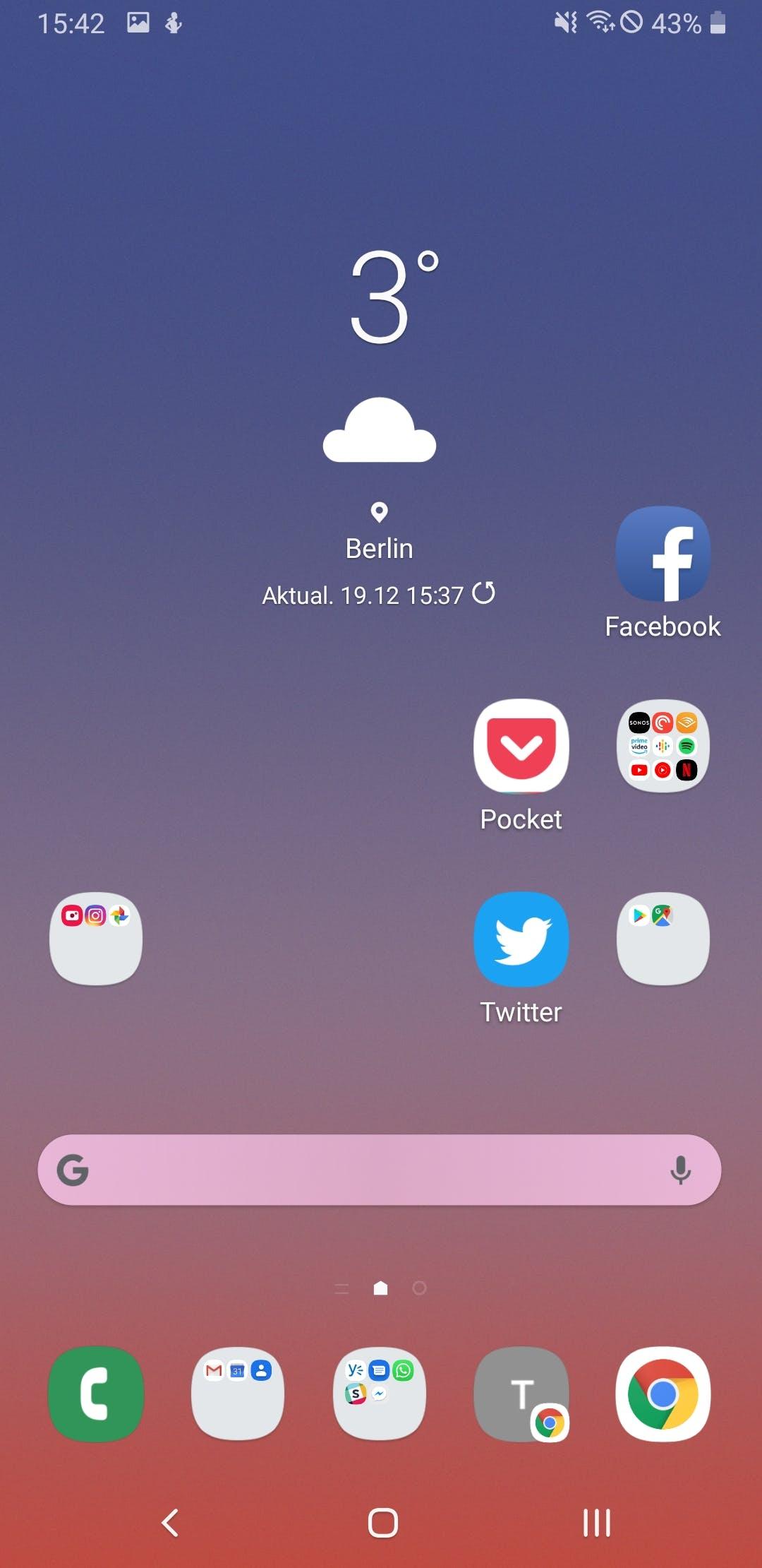 So sieht Samsungs Android 9 mit der neuen One UI aus. (Screenshot: t3n)