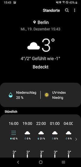 So sieht Samsungs Android 9 mit der neuen One UI aus. (Screenshot: t3n.de)