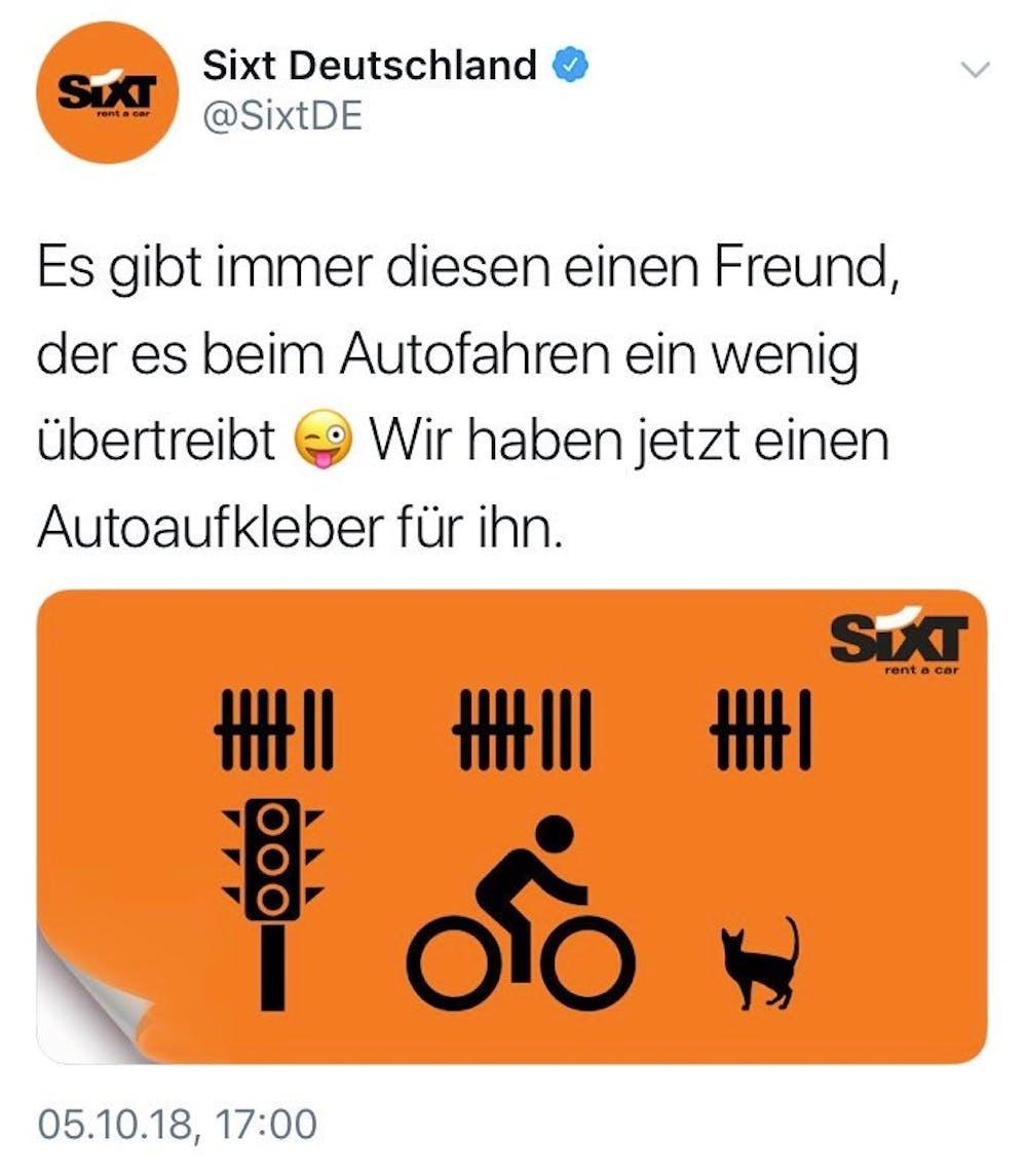 Sixt-Werbung spottet über tote Radfahrer