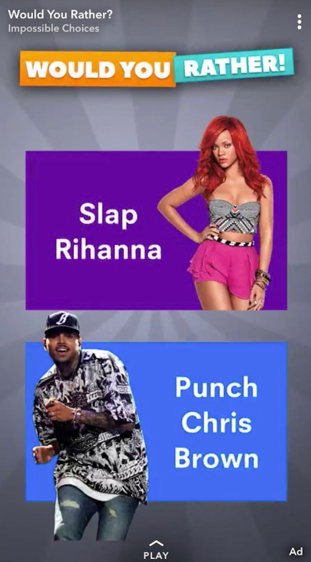 Snapchat-Werbung Slap Rihanna