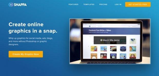 Ideal für Social-Media-Manager: Das Infografik-Tool Snappa. (Screenshot: t3n)