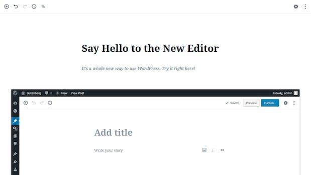 """""""Gutenberg"""" – der neue Editor in WordPress 5.0"""