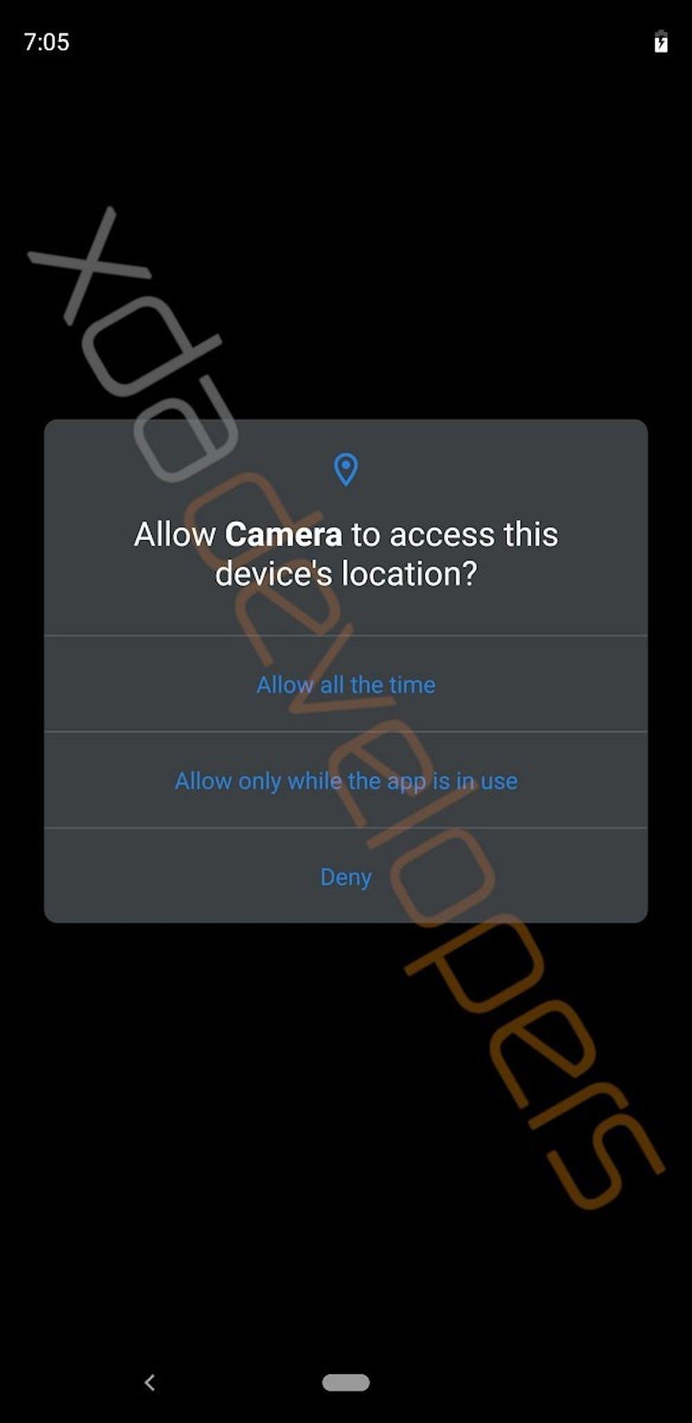 Android Q mit überarbeiteten App-Berechtigungen. (Bild: XDA Developers)