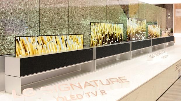 Weltweit erster OLED-Fernseher mit einrollbarem Bildschirm vorgestellt