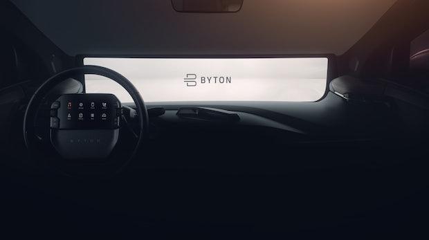 Byton verbaut in seinem Elektro-SUV ein 48-Zoll-Display