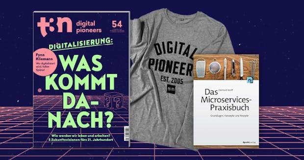 """t3n Abo und das dpunkt-Fachbuch """"Das Microservices-Praxisbuch"""" gratis dazu"""