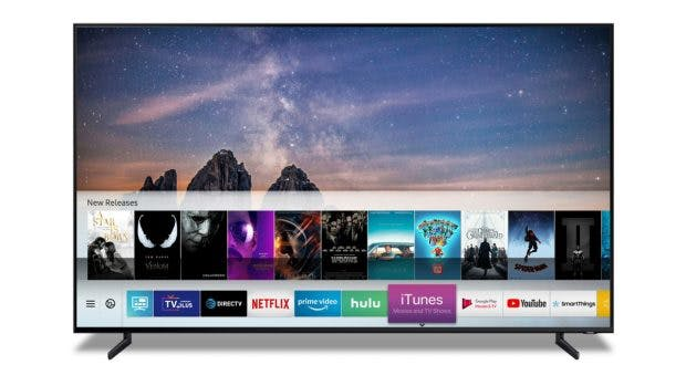 Smart-TV von Samsung mit Apple iTunes-App. (Bild: Samsung)
