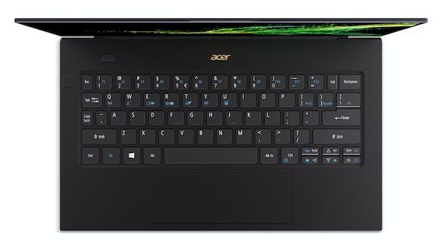Das Acer Swift 7 besitzt ein Keyboard mit Hintergrundbeleuchtung. (Bild: Acer)