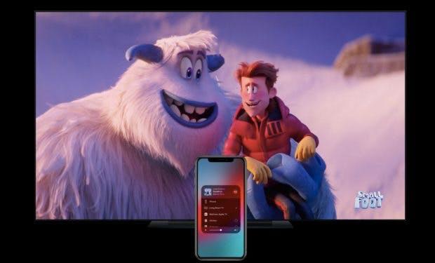 Mit Airplay-2-Support könnt ihr Inhalte bald auch auf Smart-TV-Geräte vom iPhone streamen. (Bild: Apple)
